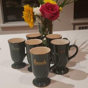 Set of 6 Harrods Pedestal Cups